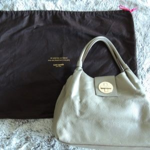Kate Spade Grey Leather Shoulder Bag